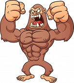pic of bigfoot  - Angry Bigfoot - JPG