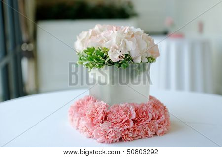 Beautiful White Wedding Centerpiece