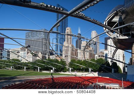 Chicago - July 12: Jay Pritzker Pavilion In Millennium Park On July 12, 2013 In Chicago