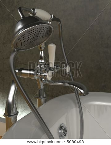 Classic Roll Top Bath And Taps