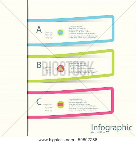 Modern Design Template / Can Be Used For Infographics / Numbered Banners