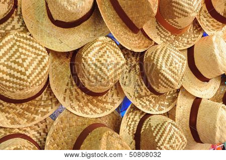 Many Wicker Hats