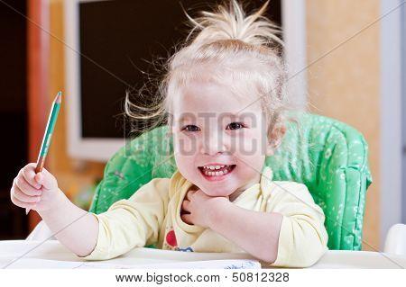 Happy Girl Draw