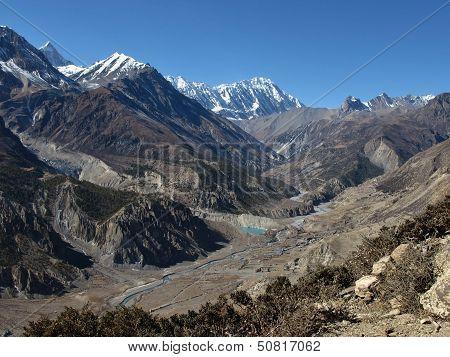 Manang And High Mountains