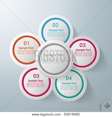 Infographic Design Flower 5 Options