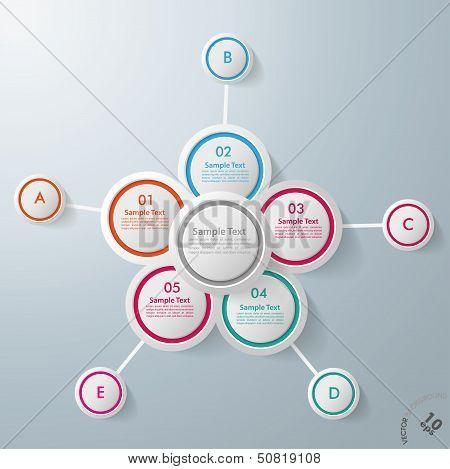 Infographic Design Flower 10 Options