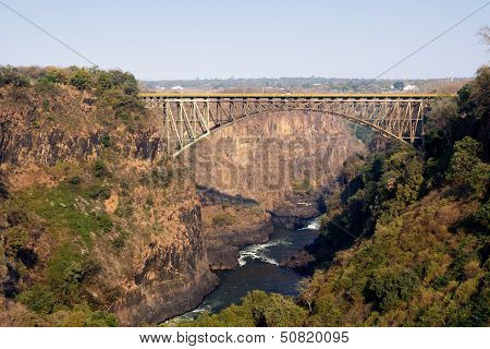 Victoria Falls Bridge Crossing The Zambezi River