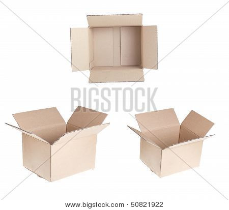 Set Of Open Cardboxex.