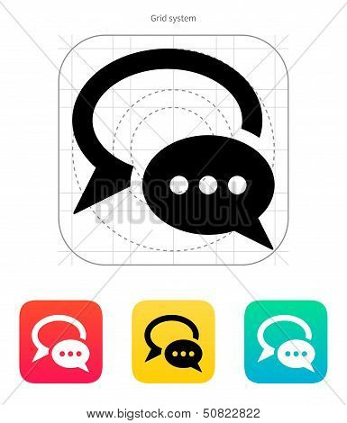 Dialogue bubble icon. Vector illustration.