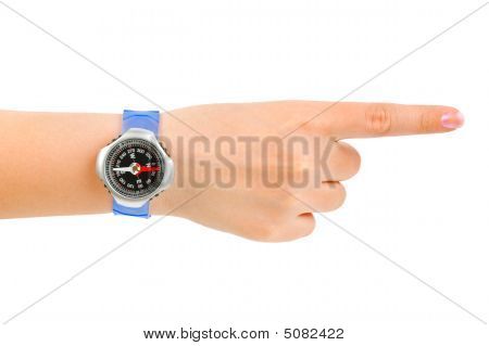 Pointing Hand And Compass