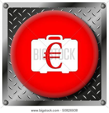 Euro Bag Metallic Icon