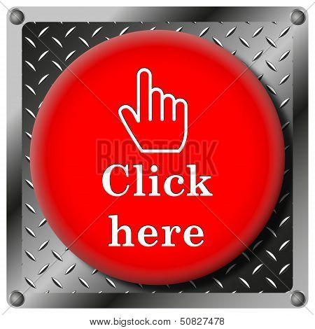 Click Here Metallic Icon