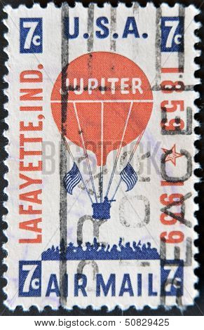 USA - CIRCA 1959: A stamp printed in United States of America shows Jupiter Balloon in Flight