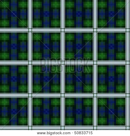 Seamless Checkered Dark Vector Pattern
