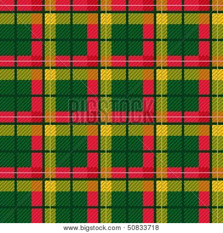 Seamless Checkered Vector Bright Pattern