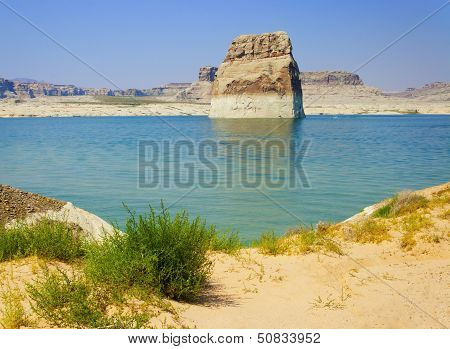 Lone Rock In Lake Powell, Page, Arizona
