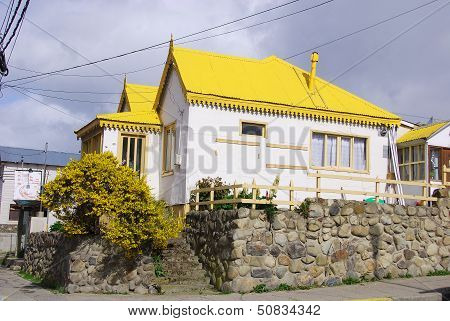 Typical extreme southern house in Ushuaia