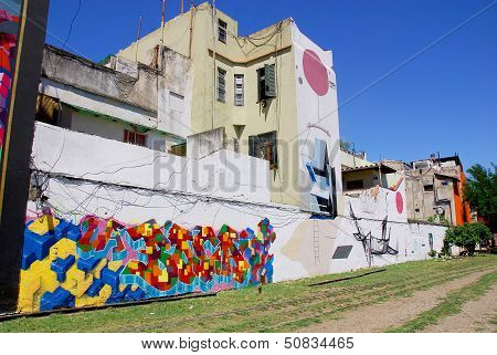 Street art in La Boca neighborhoods