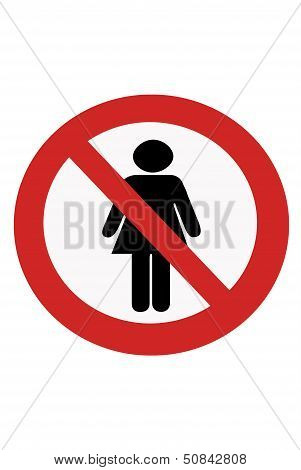 Signs Entry Ban Women.