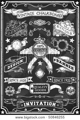 Hand Drawn Blackboard Banner