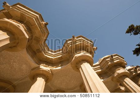 Gaud�'s Parc Guell In Barcelona