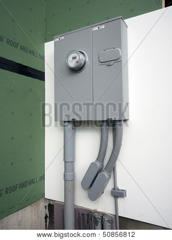 Electric power panel and meter