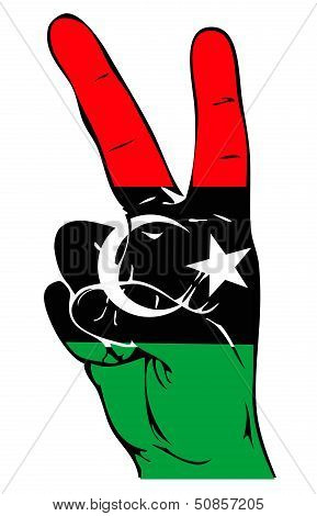 Peace Sign of the Libyan Flag