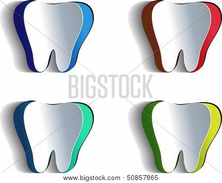 Как сделать зубы из бумаги