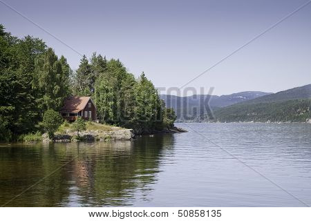 Red House At The Lake