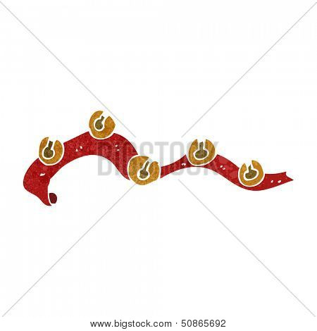 retro cartoon sleigh bells