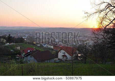 Sunset Over Targu-mures