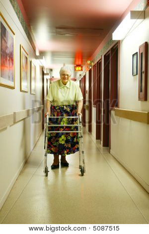 Senior Woman With Walker
