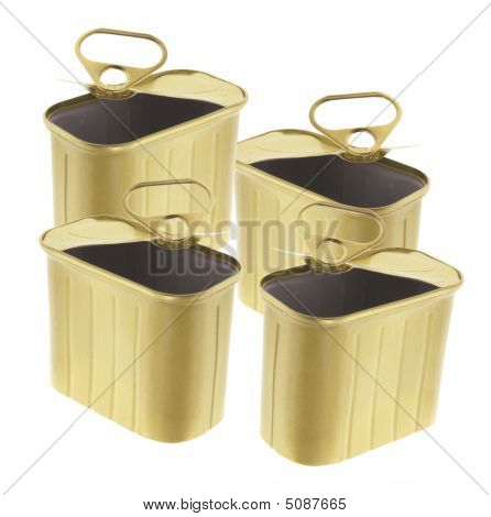 Empty Ring-pull Tin Cans