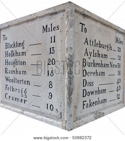 Stone Mileage Marker