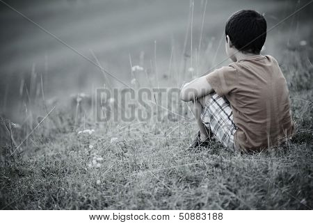 Sad lonely kid