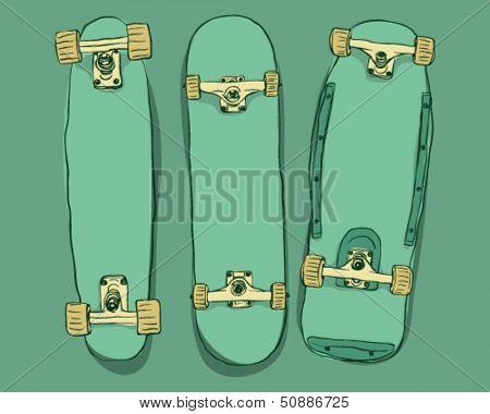 Skateboards set