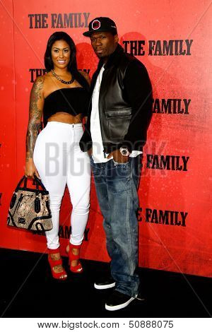 NEW YORK-SEP 10: Rapper 50 Cent (R) and guest attend