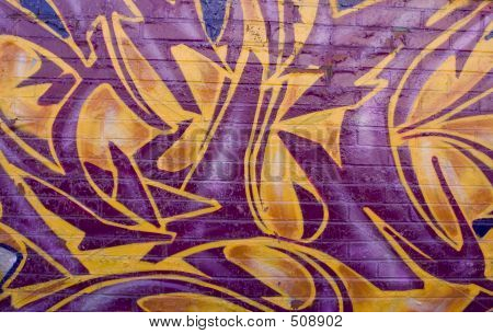 Orange And Violet Graffiti