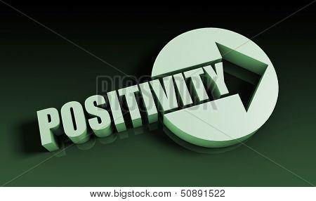 Positivity Concept With an Arrow Going Upwards 3D