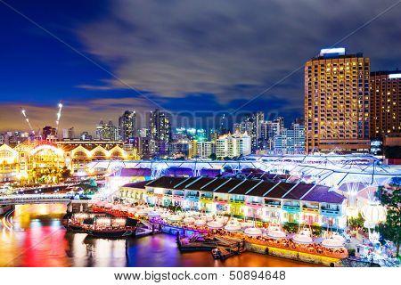 Singapore night at night
