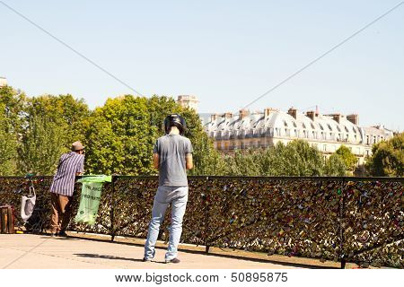The love locks Paris