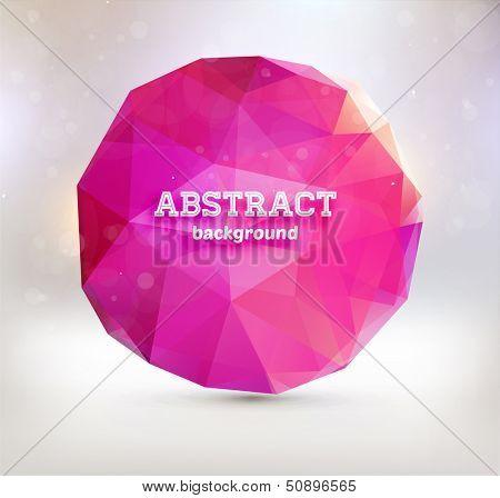 Polygonal geometric figure for modern design