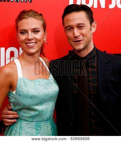 NEW YORK-SEP 12: Scarlett Johansson and Joseph Gordon-Levitt attend the