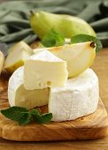 stock photo of brie cheese  - soft brie cheese  - JPG