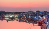 Pushkar Holy Lake At Sunset. India