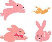 Постер, плакат: Маленькие кролики