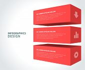 stock photo of 3d  - Infographics options design elements - JPG