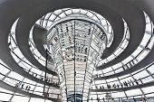 BERLIN, GERMANY - SEPTEMBER 24 : Dome Reichstag at Berlin September 24th, 2011 in Berlin Germany. Is