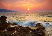 pic of albania  - Ionian sea sunset - JPG