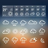stock photo of rainy day  - Weather Icons - JPG